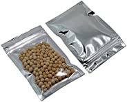 200PCS Clear Aluminum Foil Packing Pouches for Zip Food Storage Resealable Lock Heat Sealable Zipper Lock Myla