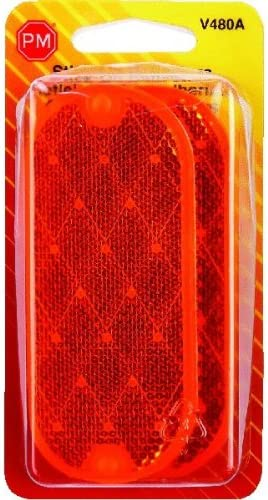 PM V480A Amber Oval Stick-on Reflectors 2 Count