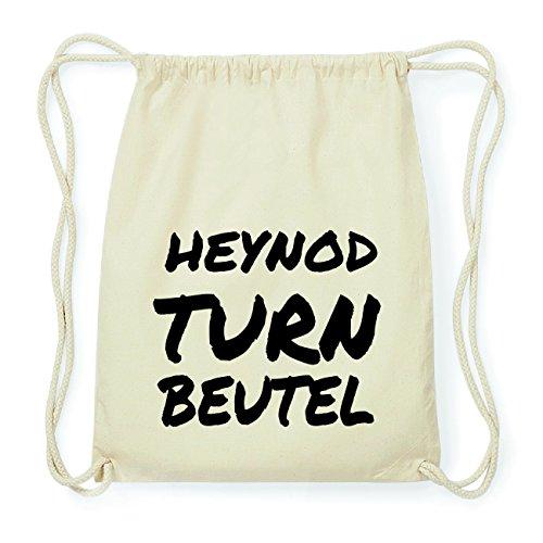 JOllify HEYNOD Hipster Turnbeutel Tasche Rucksack aus Baumwolle - Farbe: natur Design: Turnbeutel