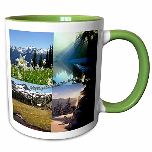 3dRose 156443_7 Mountain and Lake Montage-Olympic National Park Ceramic Mug, (Olympic National Park Pictures)