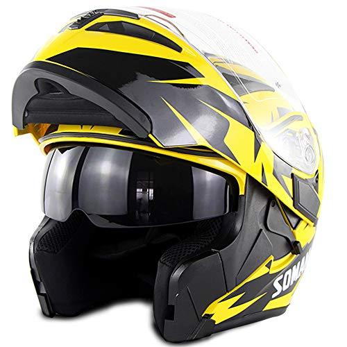 Casco Bluetooth para motocicleta D.O.T Certificación: carátula Bluetooth para carreras completas Casco para motocicleta...