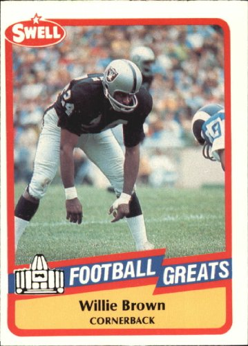 (1989 Swell Greats Football Card #126 Willie Brown Mint)