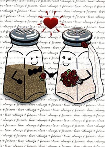 (Avanti Salt and Pepper Shaker Funny/Humorous A-Press Wedding Congratulations Card)