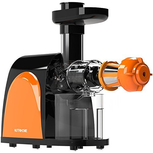 Masticating Juicer, Cold Press Juicer, Slow Juicer Machine with Juice Jug, Pulp Jug and Cleaning...