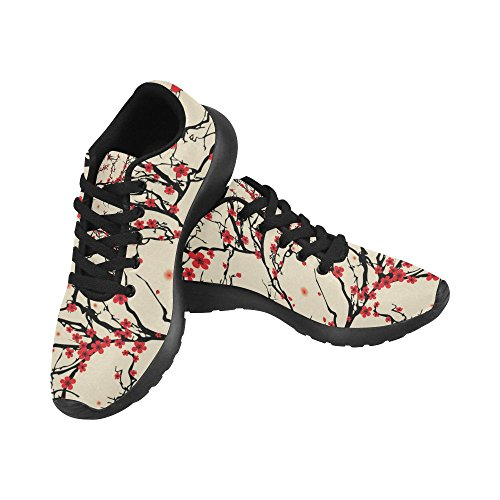 InterestPrint Womens Road Running Shoes Jogging Lightweight Sports Walking Athletic Sneakers Cherry Tree Branch HGUfiD