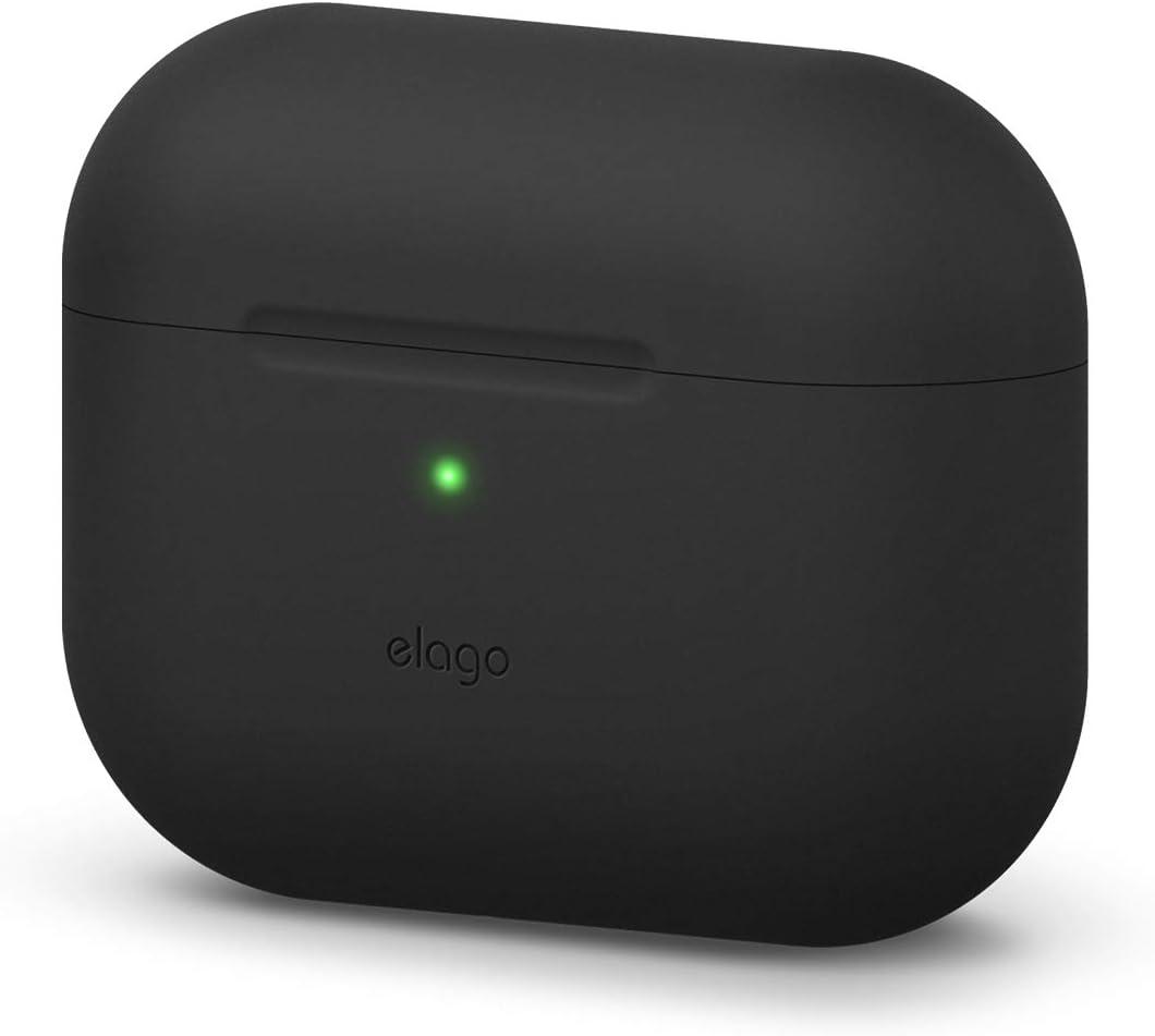 elago Original Case Designed for Apple AirPods Pro Case for AirPod Pro - Protective Silicone Cover (Black)