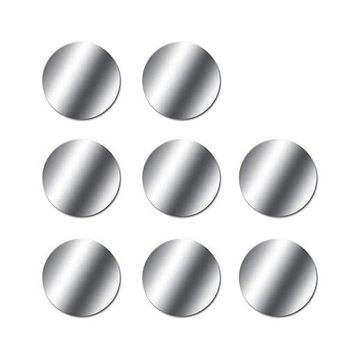 Chytaii 8 Stück Metallplatte Metallplättchen Selbstklebend Set Mit 3m Kleber Für Magnet Kfz Handyhalter Fürs Auto Sehr Dünn Metallplatten Für Handy Und Tablet Silber Baby