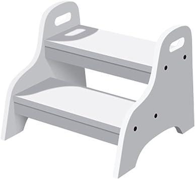 QFFL tideng Taburete de escalera para niños Taburete de escalera de baño de madera maciza Taburete de escalera antideslizante Taburete de múltiples funciones (Color : Blanco): Amazon.es: Bricolaje y herramientas