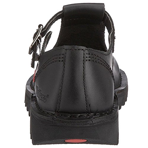 Aztec Noir Cuir Chaussures Femmes Kick Ecole Lo Janes Mary Kickers wqpRtIP