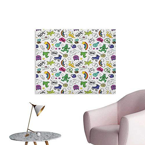 Anzhutwelve Emoji Wall Sticker Decals Vivid Colored Collection