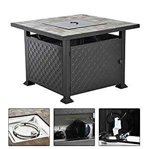 Generic MDB-US9...4416..8....Fireplace Heater d Deck Slate Tile Yard Deck eater Fire Pit le Pati Outdoor Propane Gas ane G Table Patio tdoor P NV_1008004416-MJT-US55
