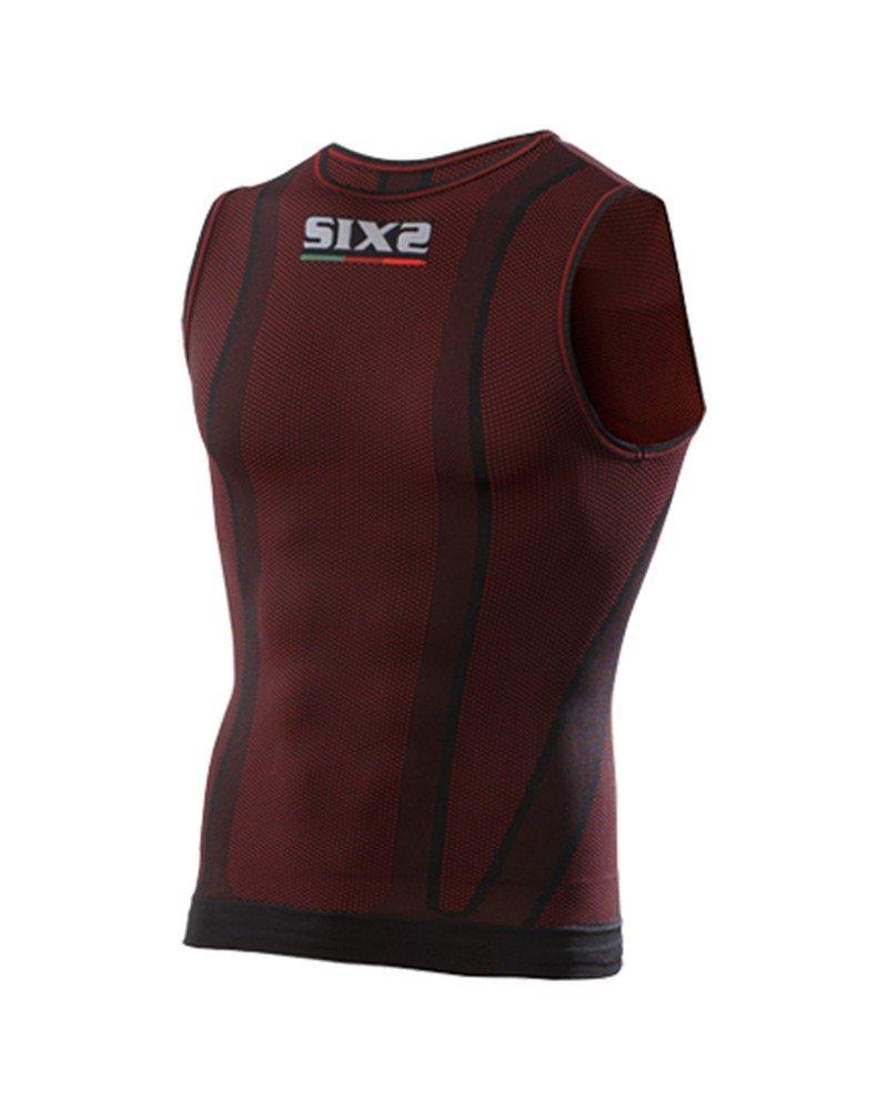 SIXS SMX /Ärmellos Top Carbon Underwear Dark Red/ /XL