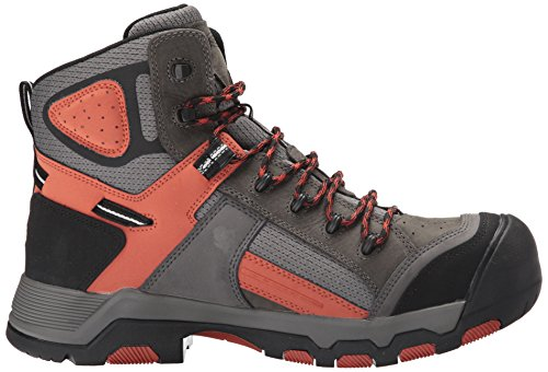 KEEN Utility Mens Davenport Mid Waterproof Industrial and Construction Shoe Gargoyle/Burnt Ochre 1VuJqtJ1