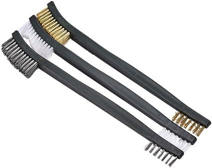 "10Pcs 7/"" Nylon Bristles Double Ended Cleaning Brush"