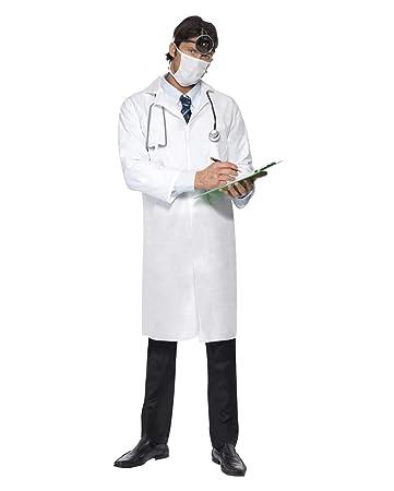 b0a7770f89e Horror-Shop Doktor Kostüm weiß M  Amazon.de  Spielzeug