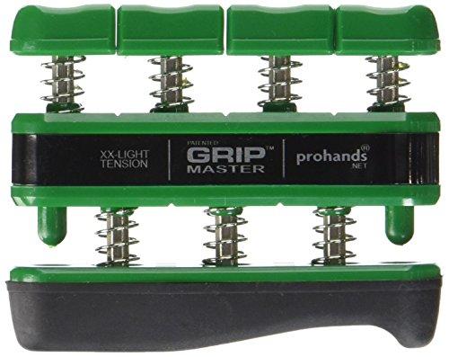 Gripmaster Hand Exerciser Green, XX-Light Tension (1.5-Pounds per Finger) (Finger Exercise Equipment)