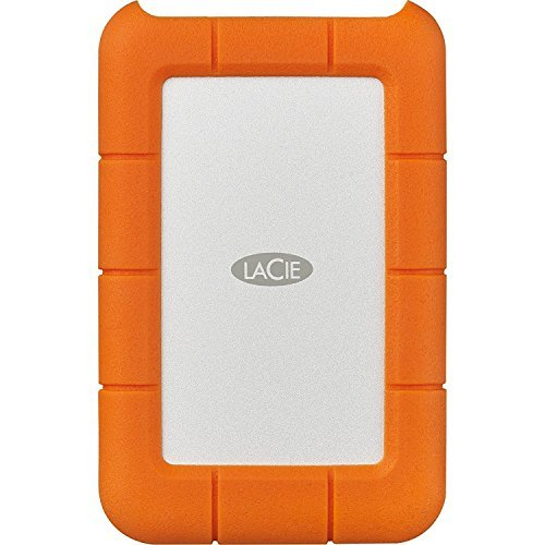 LaCie Rugged 2TB External Hard Drive - USB 3.0, USB-C (STFR2000400) With Ivation Compact Portable Hard Drive Case (Small) by Calumet