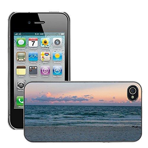 Stampato Modelli Hard plastica Custodie indietro Case Cover pelle protettiva Per // M00421744 Sunset Sky Sand Beach Ocean Shore // Apple iPhone 4 4S 4G