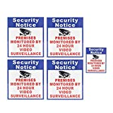 QOJA 5x premises protected by 24 hour video surveillance sign sticker