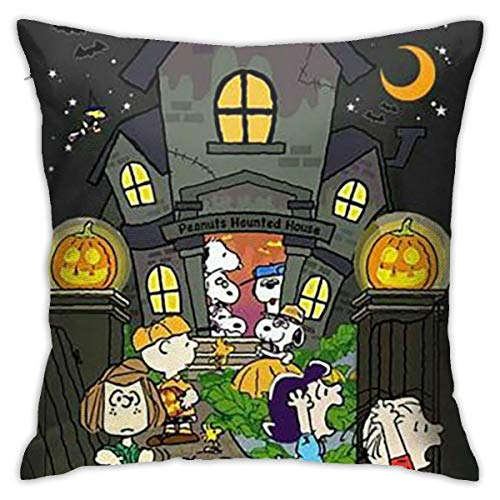 Charlie Brown Halloween F (HHenry Peanuts Halloween Cotton Pillow Throw Cushion Cover Case 1818 Inch Home)