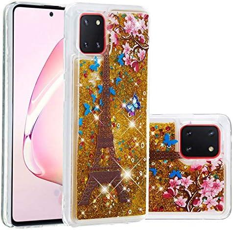 Miagon Flüssig Hülle für Samsung Galaxy A81,Glitzer Weich Treibsand Handyhülle Glitter Quicksand Silikon TPU Bumper...