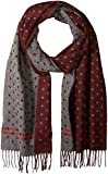 Ted Baker Men's Redpine Spot Scarf, Dark/Red, One Size