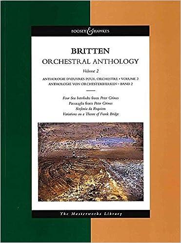 BRITTEN ORCHESTRAL ANTHOLOGY Vol 2 Masterwks Lib