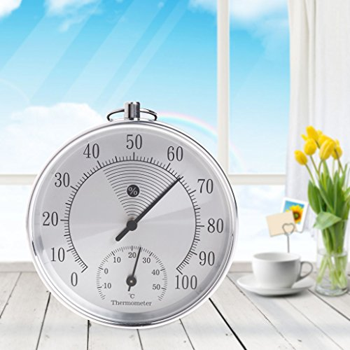 - Yuly Indoor Outdoor Analog Thermometer Hygrometer Temperature Humidity Meter HT9100