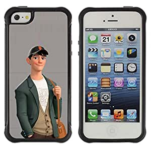 Be-Star Unique Pattern Anti-Skid Hybrid Impact Shockproof Case Cover For Apple iPhone 5 / iPhone 5S ( Boy Cute Friendly Art Drawing Casual Fashion ) Kimberly Kurzendoerfer