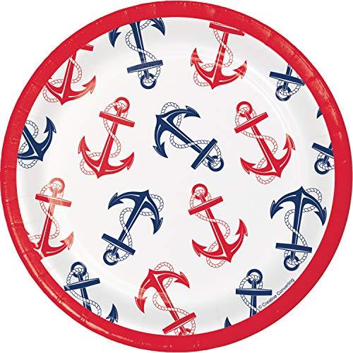 - Nautical Anchor Dessert Plates, 24 ct