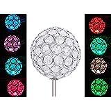 Solar Crystal Ball Globe Light , Solar Power Multi-color Color changing LED Decorative stake Garden Yard Light