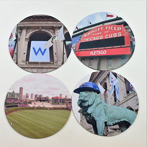Chicago Cubs Wrigley Field Coasters (Set of ()