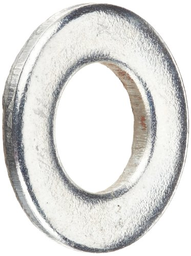 Steel Flat Washer, Zinc Plated Finish, DIN 125, Metric, M5 Screw Size, 5.3 mm ID, 10 mm OD, 1 mm Thick (Pack of (10mm Washers)