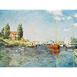 Posters: Claude Monet Poster Art Print - Red Boats At Argenteuil, 1875 (32 x 24 inches)