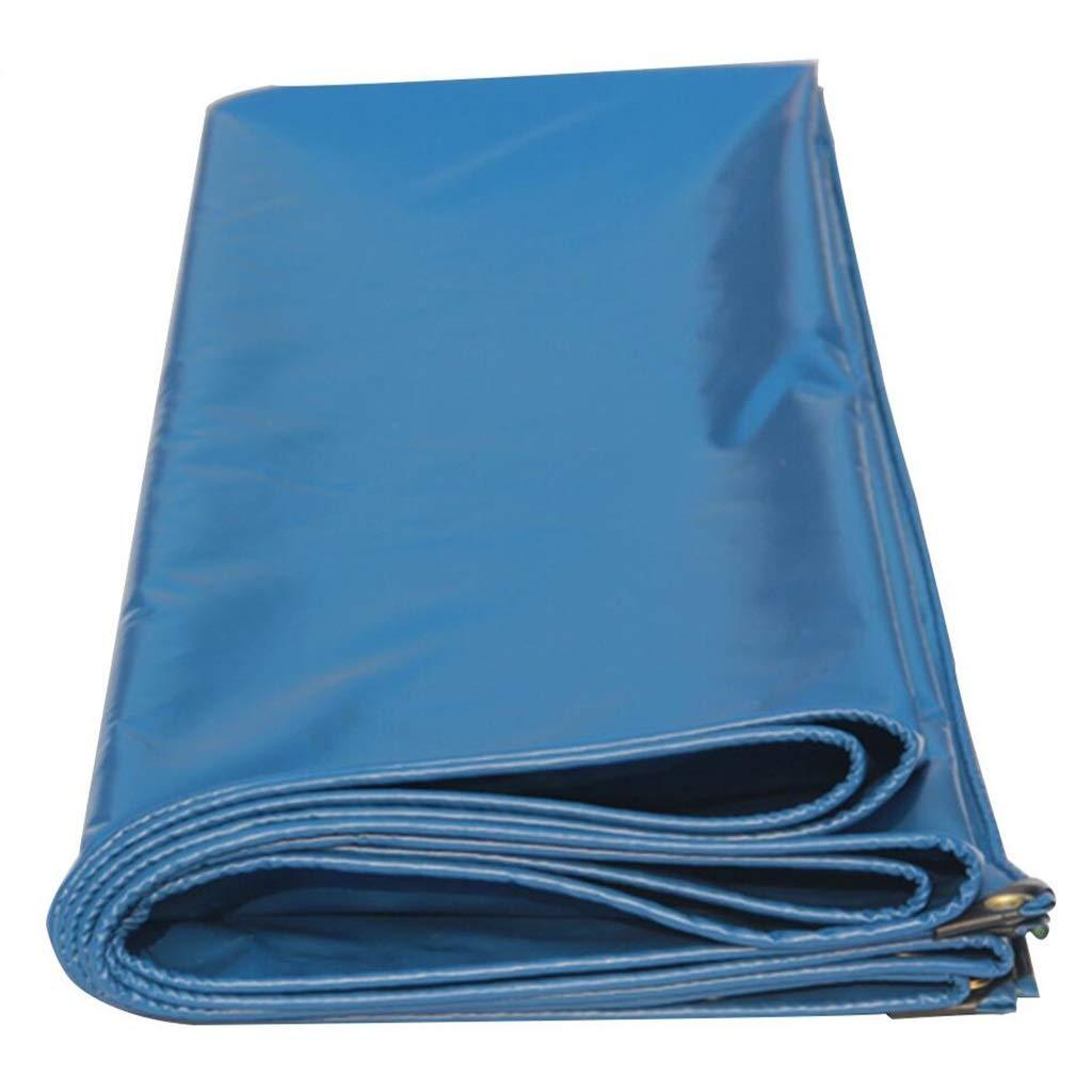 BU Plane Plane-Markise, LKW-Camping-Zelt-Regenplanen-Picknick-Tuch 450g   M2, Blaues Doppelseitiges Wasserdichtes, Perforiert (größe   4 x 5m)