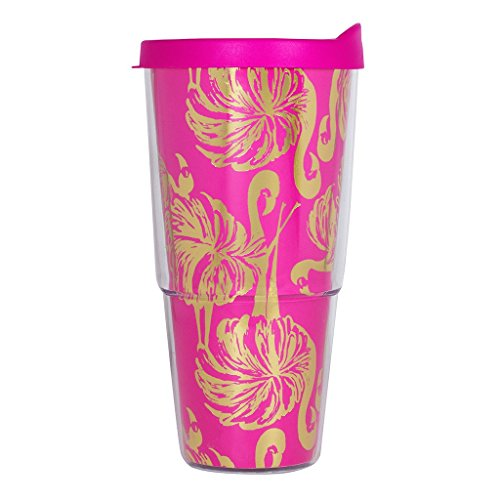 (Lilly Pulitzer Insulated Tumbler with Lid 24 Ounce Gimme Some)