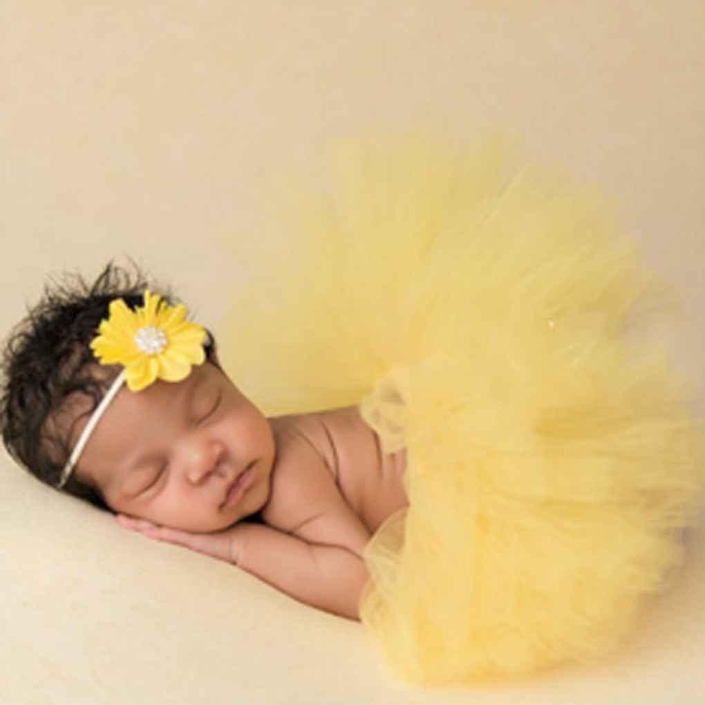 Disfraz de princesa con diadema de flores para recién nacido ...