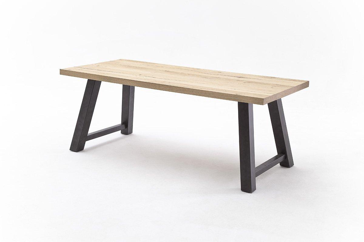 Tisch, Esstisch, Esszimmertisch, Gestell Antiklook, Eiche furniert, L=240 cm