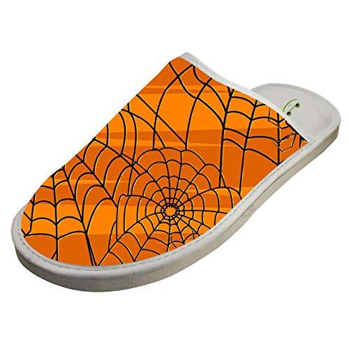 Cotton Slipper,Funny Halloween Spider Slippers Indoor Sandals Shoes Flat Winter Sleeppers
