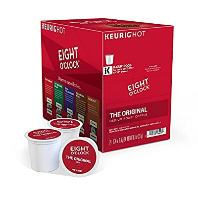 Eight O'Clock Coffee Keurig Single-Serve K-Cup Pods, The Original Medium Roast Coffee