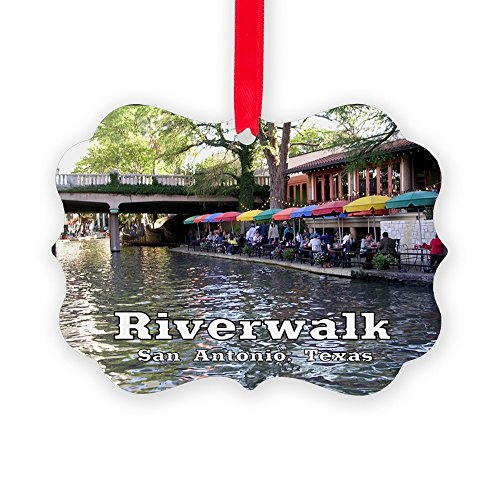 CafePress - Riverwalk, San Antonio,TEXAS - Christmas Ornament, Decorative Tree - Texas San In Antonio Shopping