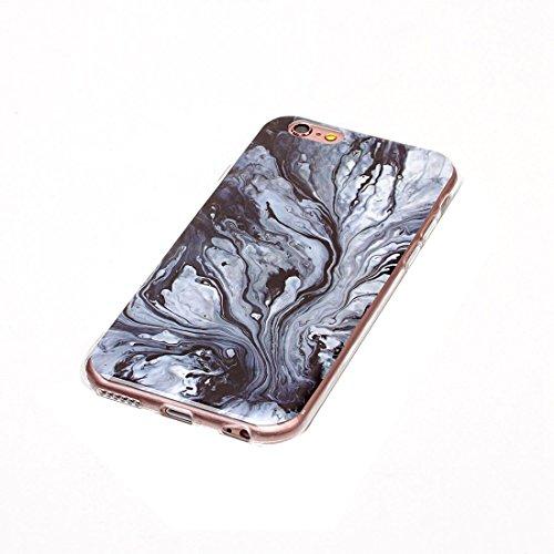 Wkae Blaues Marmormuster Weicher TPU Schutzhülle für iPhone 6s Plus ( Size : Ip6p1201g )