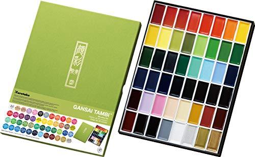 Kuretake Gansai Tambi Watercolors, 48 Colors
