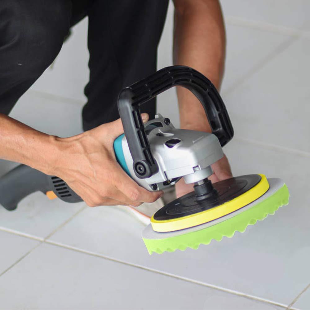 Benavvy 38pcs Polishing Pad Kit, 2 in 1 Car Foam Drill,7-5'' & 31-3'' Buffing Pads car Care Polisher Waxing Polishing by Benavvy (Image #3)