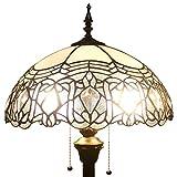 Tiffany Style Reading Floor Lamp Table Desk Lighting white shade W16H64 E26
