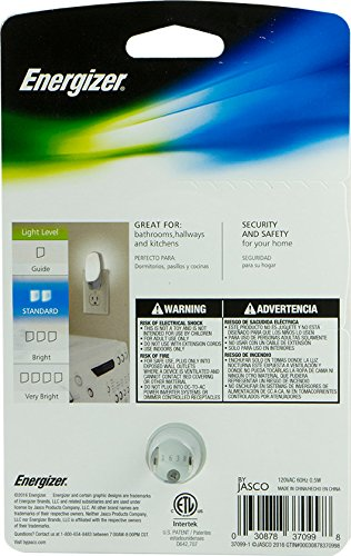 Energizer 37099 Manual LED Night Light, 1 Pack