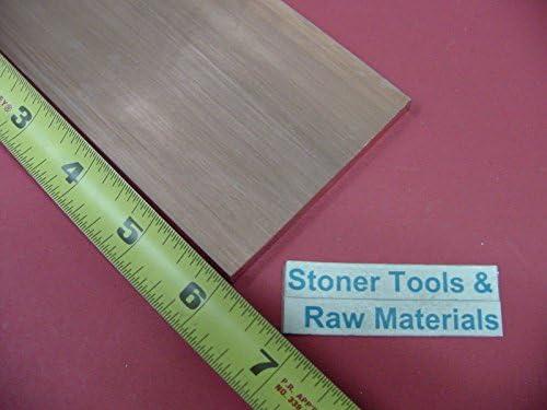 "1/4""x 3"" C110 COPPER BAR 6"" long Solid Flat Bar .250""x 3.00"" Mill Bar Stock H04"