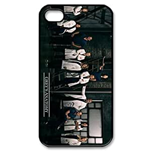 Diycover Grey's Anatomy Doctor Face-to-Face iPhone 4 4S Perfect Color Match Cover Case for Fans
