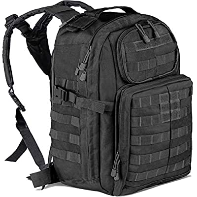 Vailge Military Tactical Backpack, Large Army Assault Pack, 3 Day Army Rucksacks Molle Bug Out Bag Backpacks Rucksack Outdoor Hunting Daypack 42L