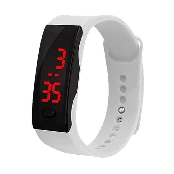 BIBOKAOKE Reloj Pulsera con Digital Pantalla LED Smartwatch ...